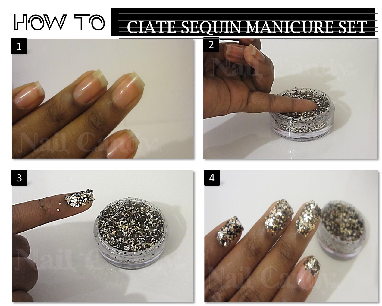 How To Ciate Sequin Manicure 0